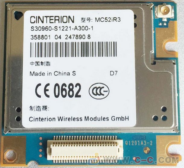 SIEMENS(CINTERINO)原装GPRS模块MC52iR3 TCP/IP 双频